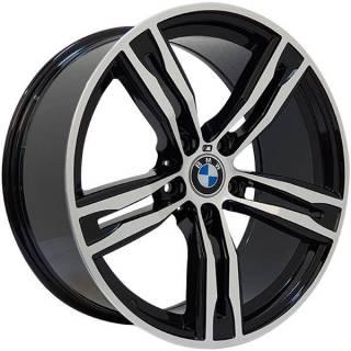 Jogo Rodas BMW M6 Zeus ZWBM6 Aro 19 5x120 (ET 35) Preto Bril. Diamantado