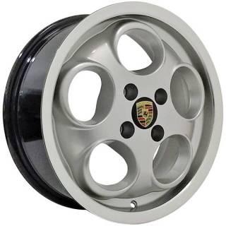 Jogo Rodas Porsche 928 Aro 15 4x100 Prata Diamantado