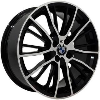 Jogo Rodas BMW Serie 3 Touring Aro 17 4x100 Preto Diamantado
