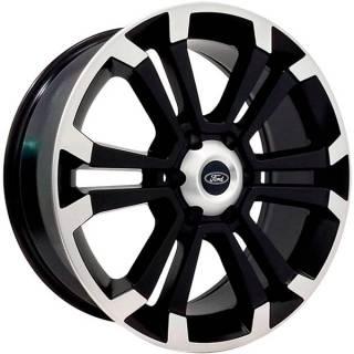 Jogo Rodas Ford Ranger Zeus ZWMLT Aro 20 6x139 Preto Diamantado Semi Brilho