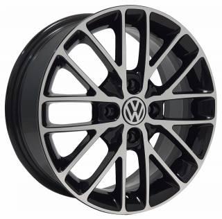 Jogo Rodas VW EWB20 15X60 4X100 ET:40 CB:72,6 Preto Brilhante Diam.