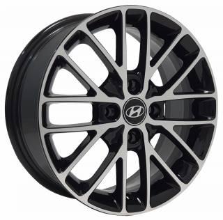 Jogo Rodas Hyundai EWB20 15X60 4X100 ET:40 CB:72,6 Preto Brilhante Diam.