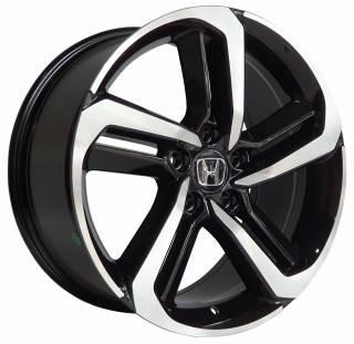 Jogo Rodas Honda Accord 5521 18X85 5X114,3 ET:50 CB:64.1 BLACK MACHINED FACE