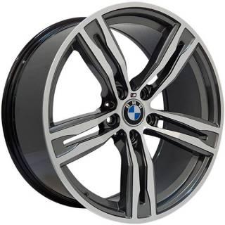 Jogo Rodas BMW M6 Zeus ZWBM6 Aro 19 5x120 (ET 42) Grafite Bril. Diamantado