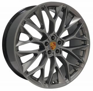 Jogo Rodas Porsche P-200 ZWPC1 22X90 5X130 ET:50 CB:71,6 Grafite Brilhante