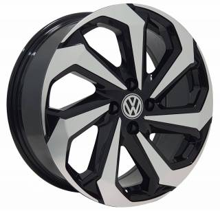 Jogo Rodas Monacco Wheels Tarantula 17x70 4x100 ET38 Preto Diamantado Brilhante