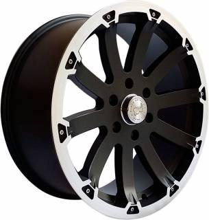 Jogo Rodas Black Rhino Sidewinder 20x8,5 5x139 Preto Diamantado Semi-Brilho