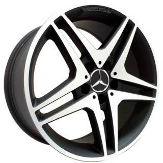 Jogo de Rodas Zeus Mercedes ZM Aro 17 5x112 Preto Fosco Diamantado