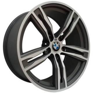 Jogo de Rodas BMW M6 Zeus ZBM6 Aro 19 5x120 (ET 20) Grafite Fosco Diamantado