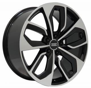 Jogo Rodas Audi RS4 Zeus ZWRS4 Aro 19 5x100 (ET 38) Preto Brilhante Diamantado