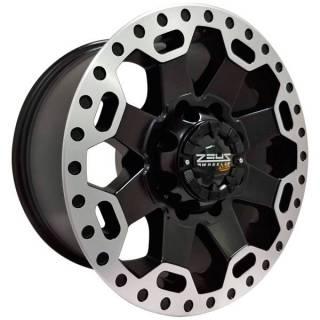 Jogo Rodas Dodge Ram OFF Road Zeus ZWAT1 17x9 8x165 Preto Diamantado