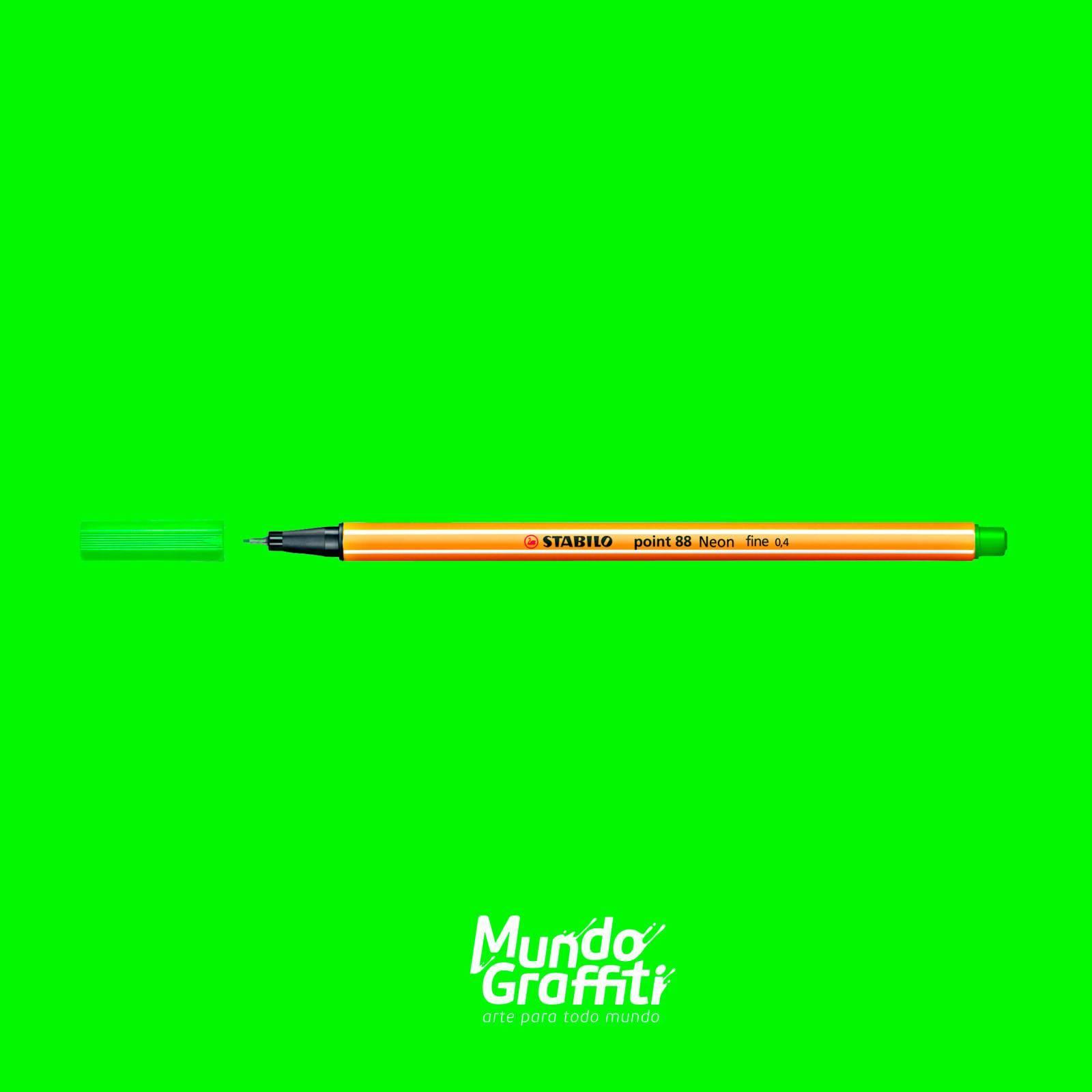 Caneta Stabilo Point 88/033 Verde Neon 0,4mm - Mundo Graffiti