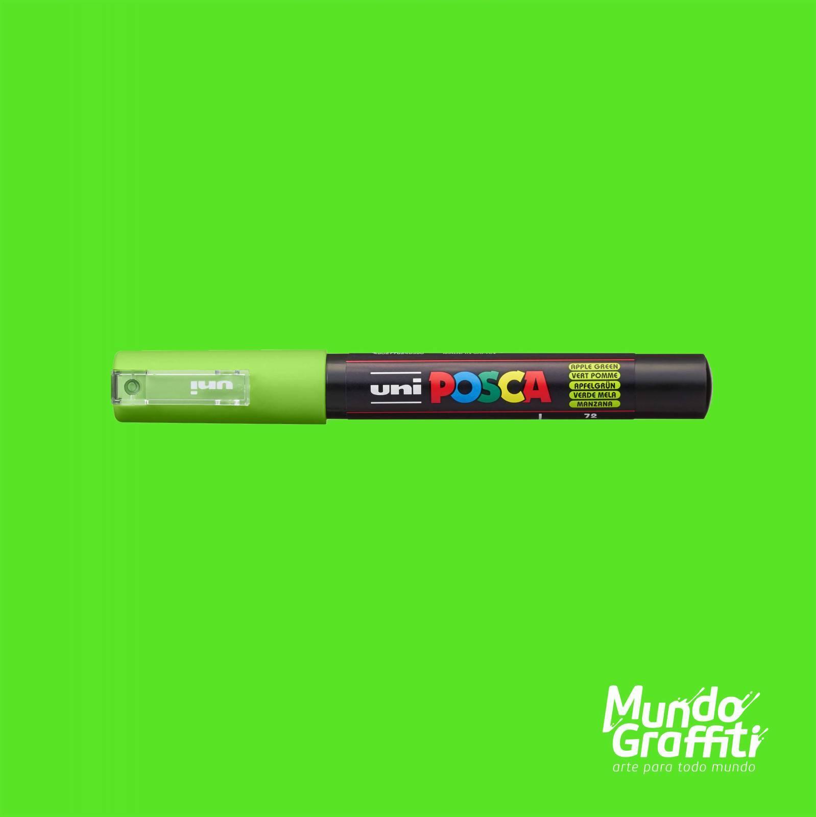 Caneta Posca 1M Maçã Verde - Mundo Graffiti