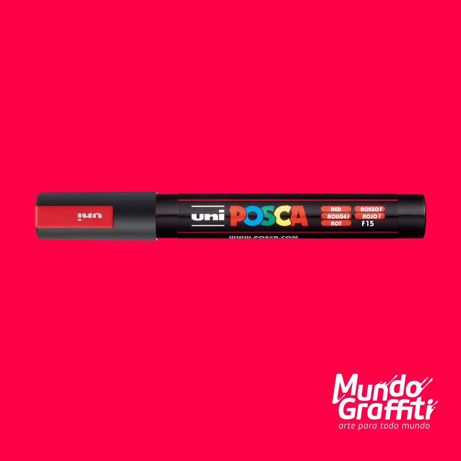 Caneta Posca 5M Fluor Vermelho - Mundo Graffiti