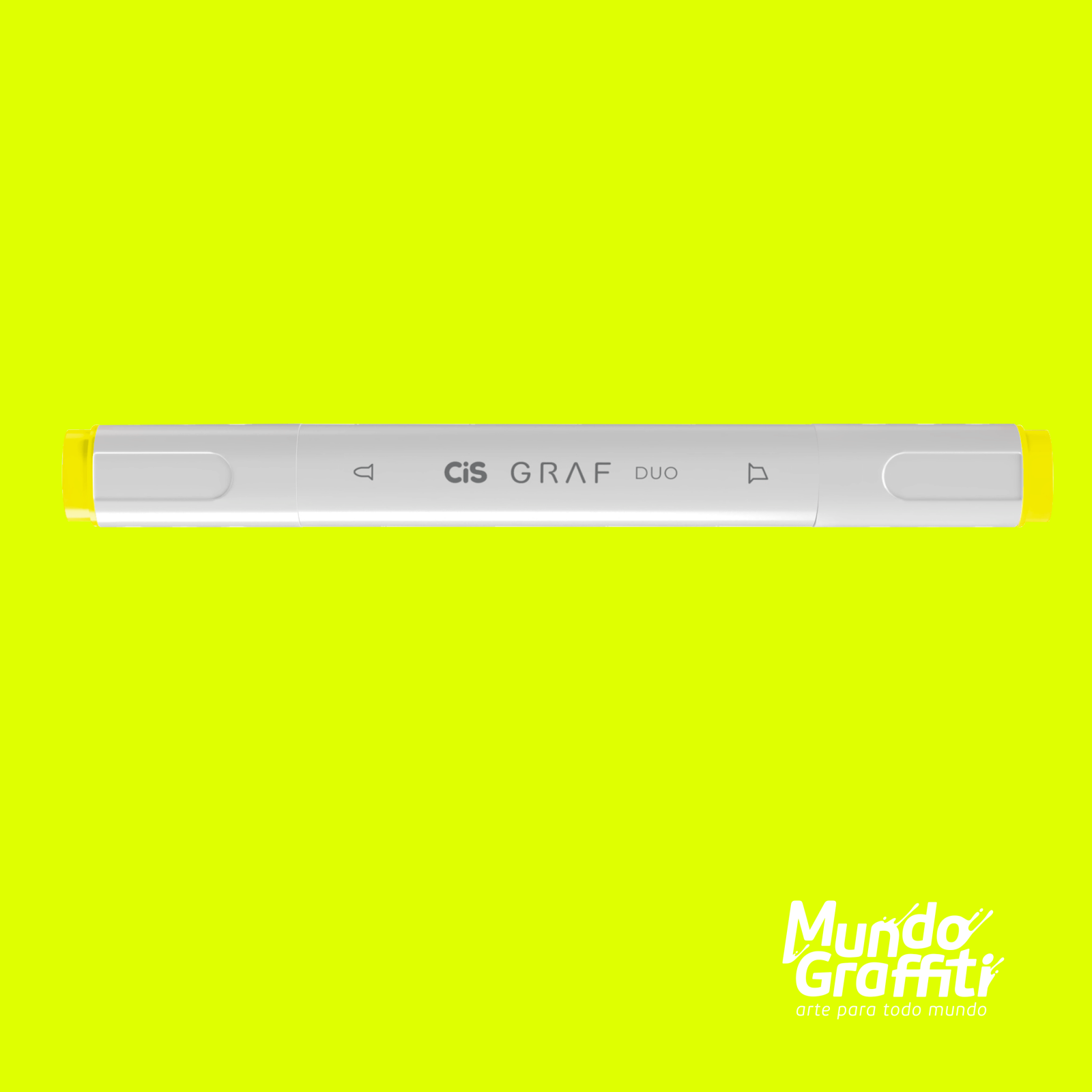 Marcador Cis Graf Duo Fluorescent Yellow 123 - Mundo Graffiti