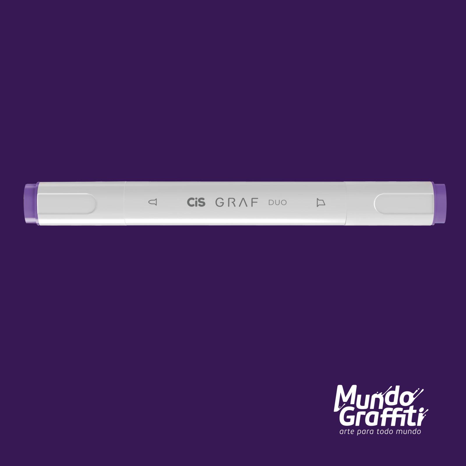 Marcador Cis Graf Duo Deep Violet 81 - Mundo Graffiti