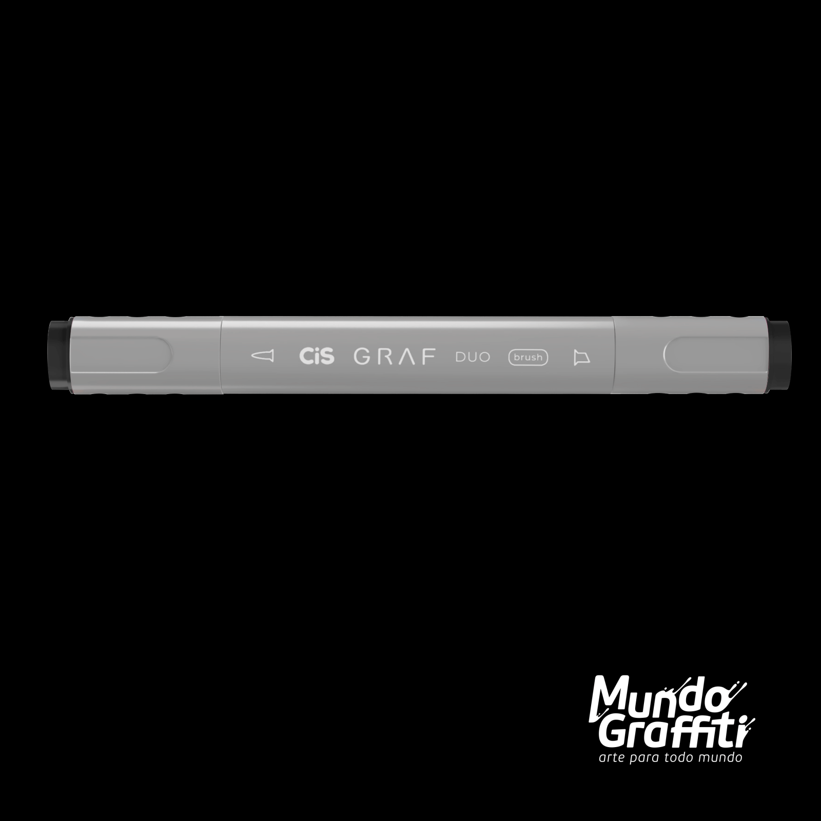 Marcador Cis Graf Duo Brush Black 120 - Mundo Graffiti
