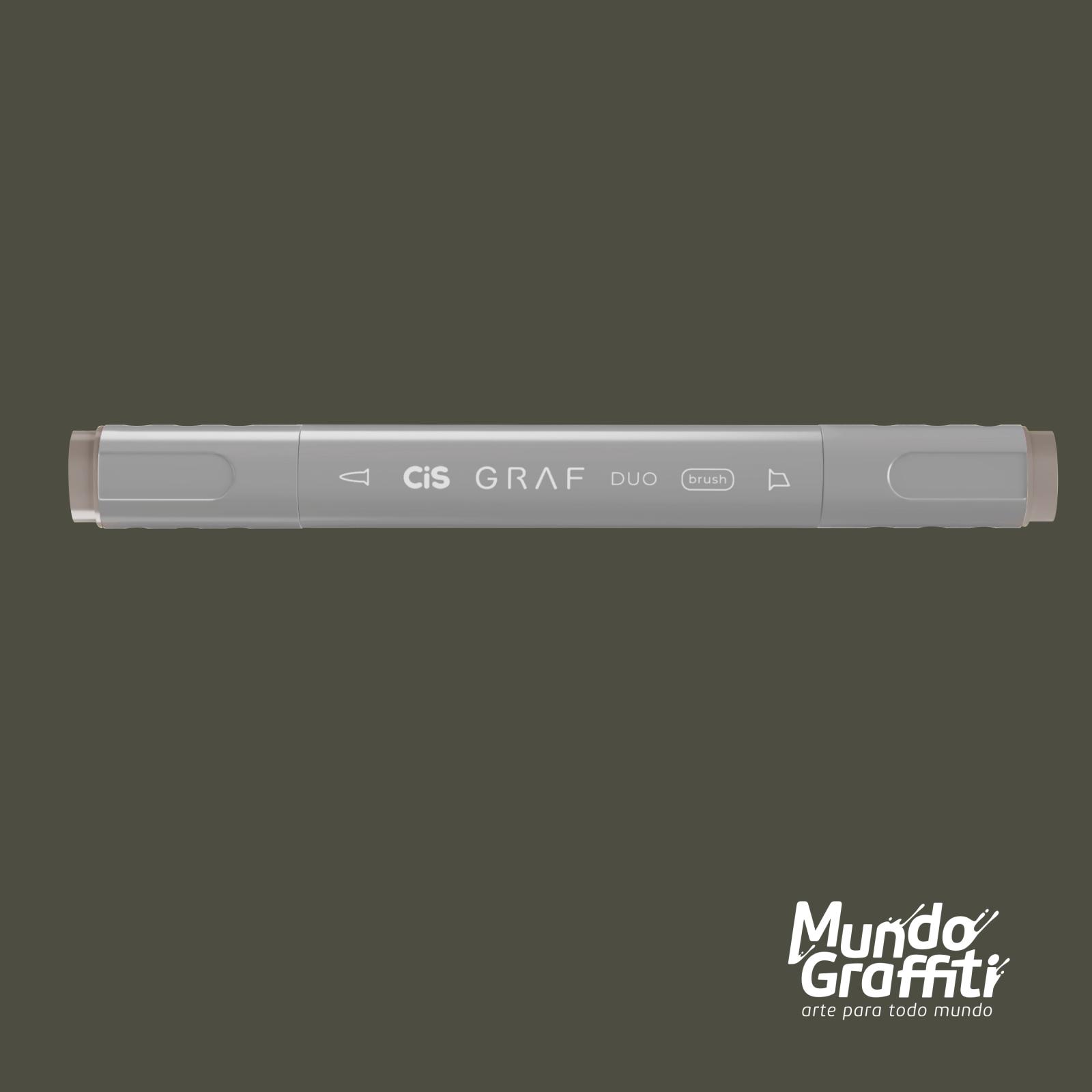 Marcador Cis Graf Duo Brush Warm Grey WG6 - Mundo Graffiti