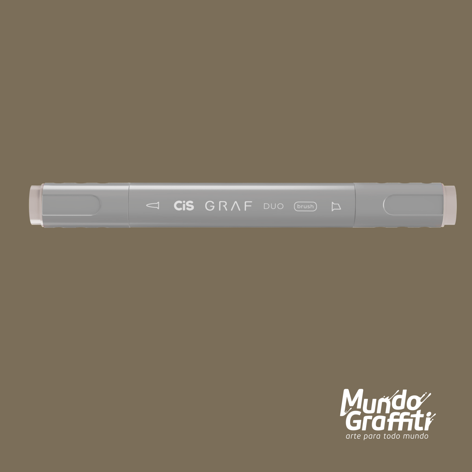 Marcador Cis Graf Duo Brush Warm Grey WG4 - Mundo Graffiti