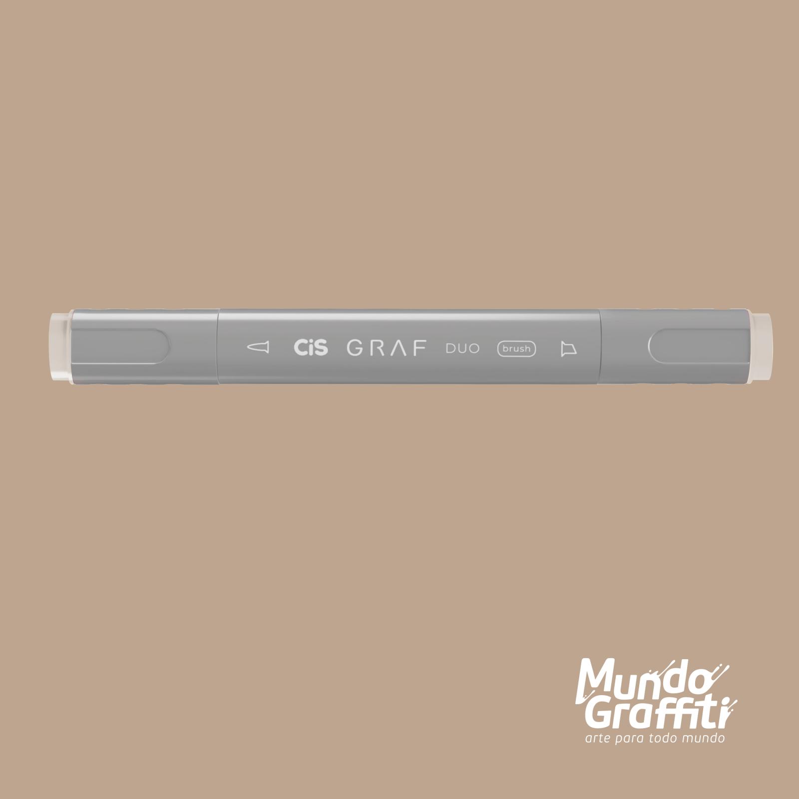 Marcador Cis Graf Duo Brush Warm Grey WG2 - Mundo Graffiti