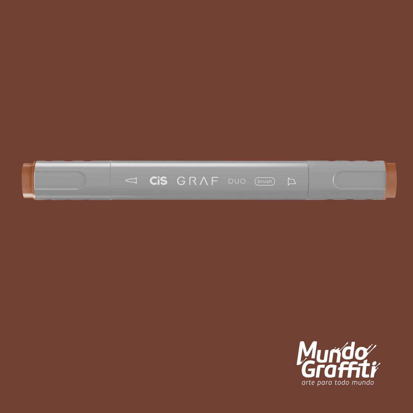 Marcador Cis Graf Duo Brush Brick Brown 94 - Mundo Graffiti