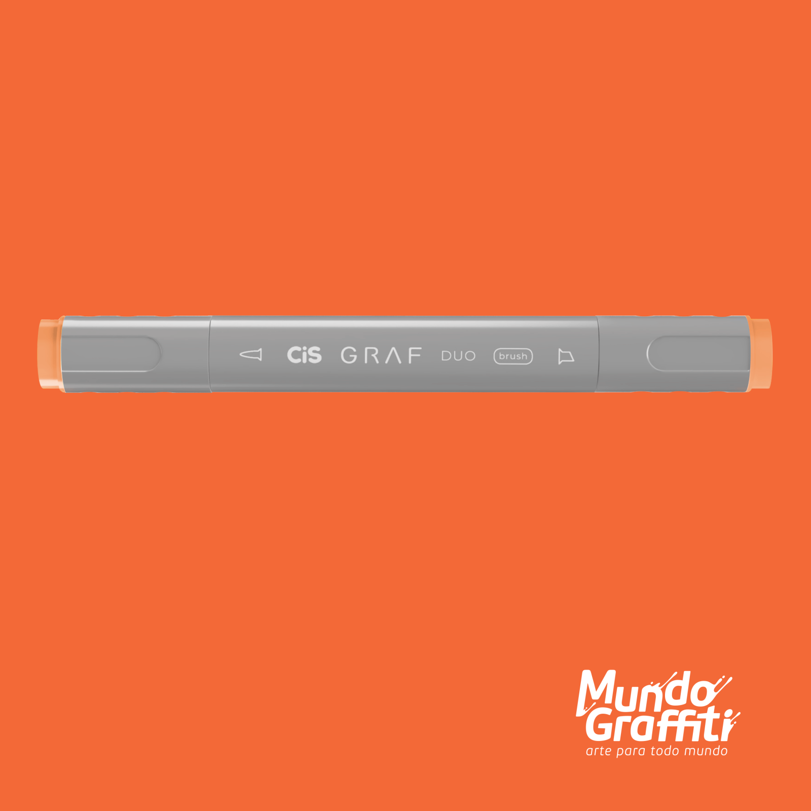 Marcador Cis Graf Duo Brush Orange 23 - Mundo Graffiti