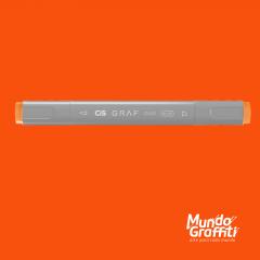 Marcador Cis Graf Duo Brush Fluorescent Orange 122