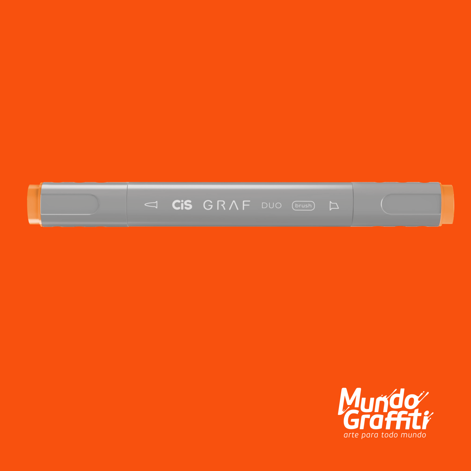 Marcador Cis Graf Duo Brush Fluorescent Orange 122 - Mundo Graffiti