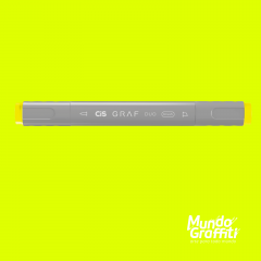 Marcador Cis Graf Duo Brush Fluorescent Yellow 123