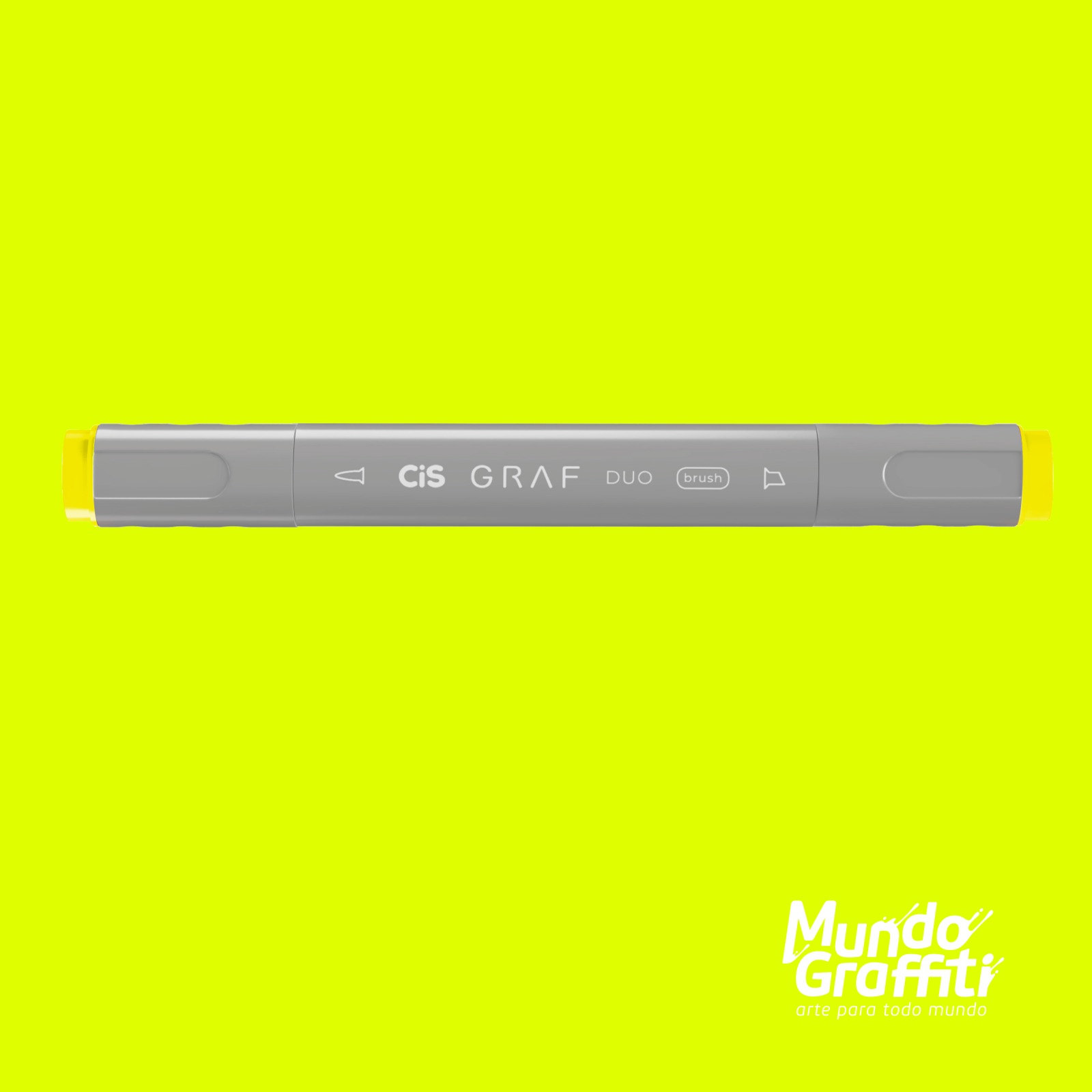 Marcador Cis Graf Duo Brush Fluorescent Yellow 123 - Mundo Graffiti