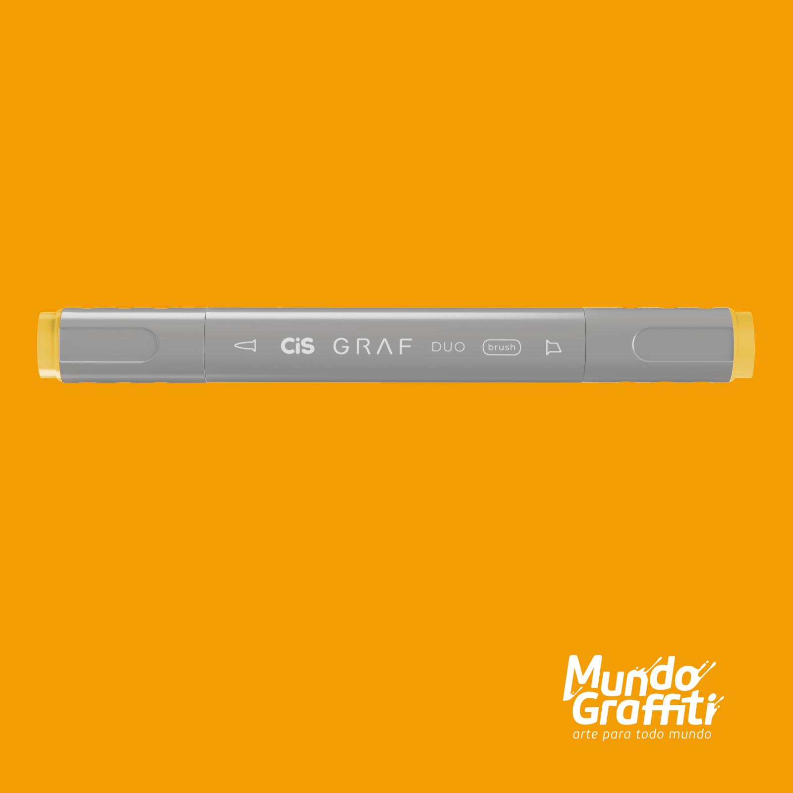 Marcador Cis Graf Duo Brush Deep Yellow 32 - Mundo Graffiti