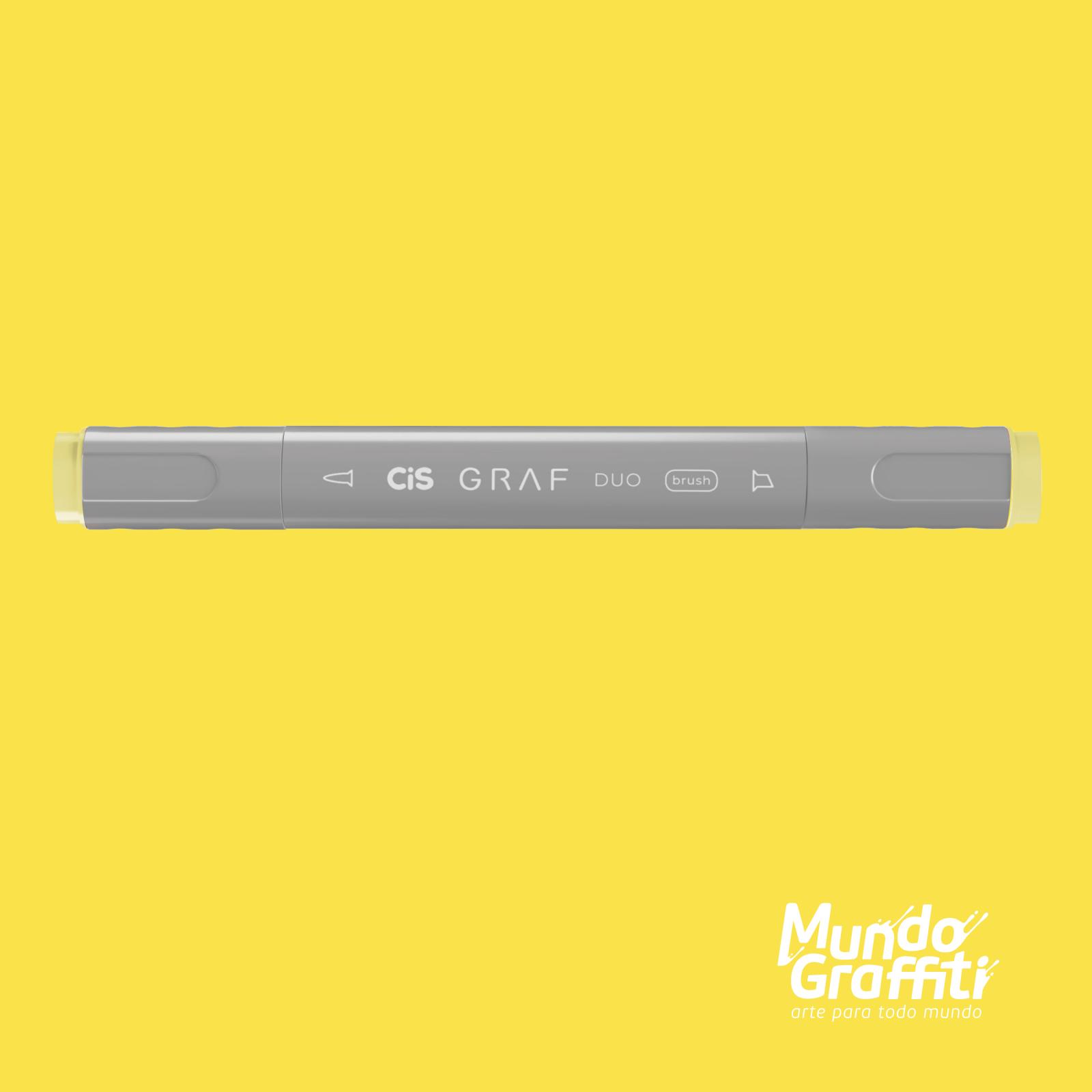 Marcador Cis Graf Duo Brush Pastel Yellow 37 - Mundo Graffiti