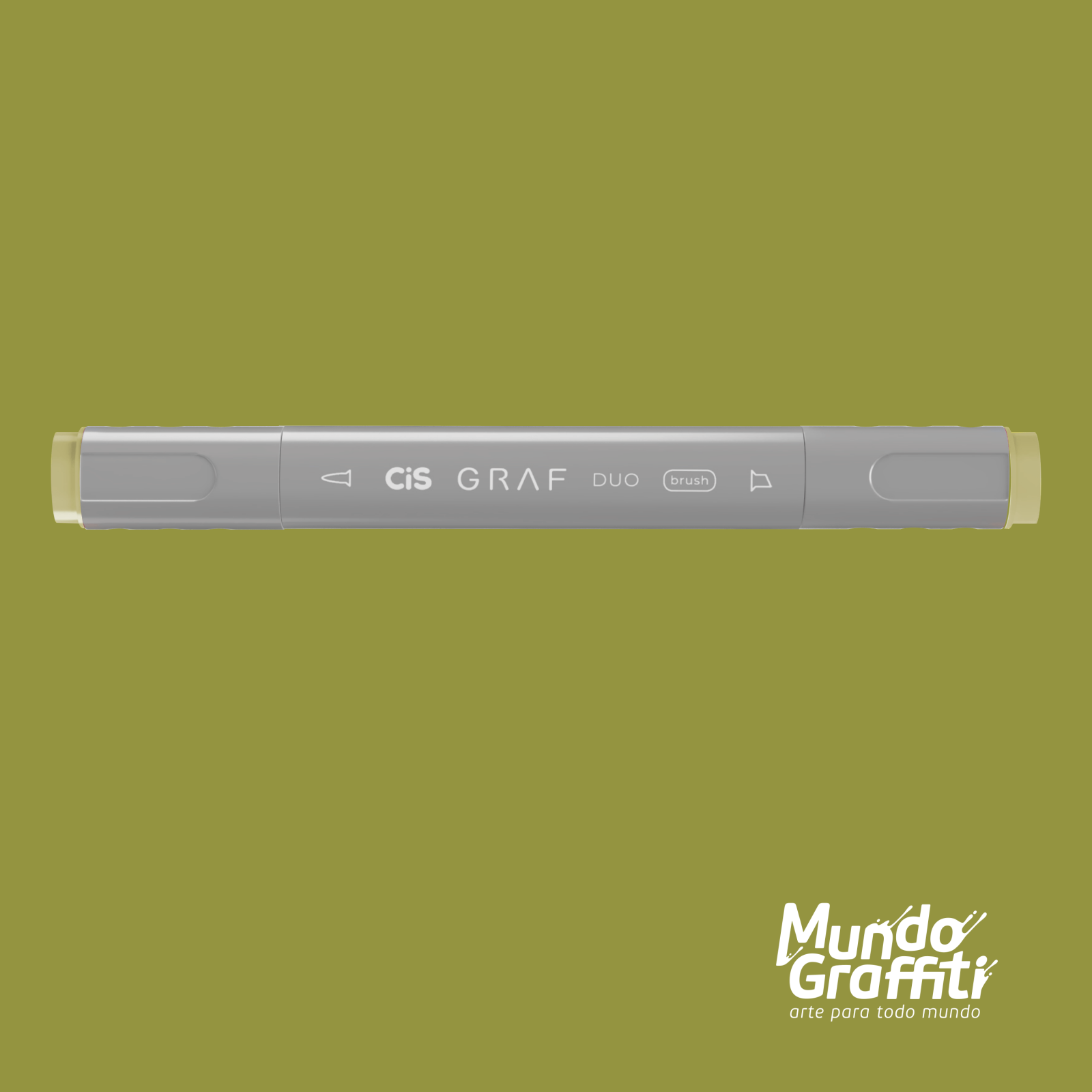 Marcador Cis Graf Duo Brush Yellow Green 48 - Mundo Graffiti