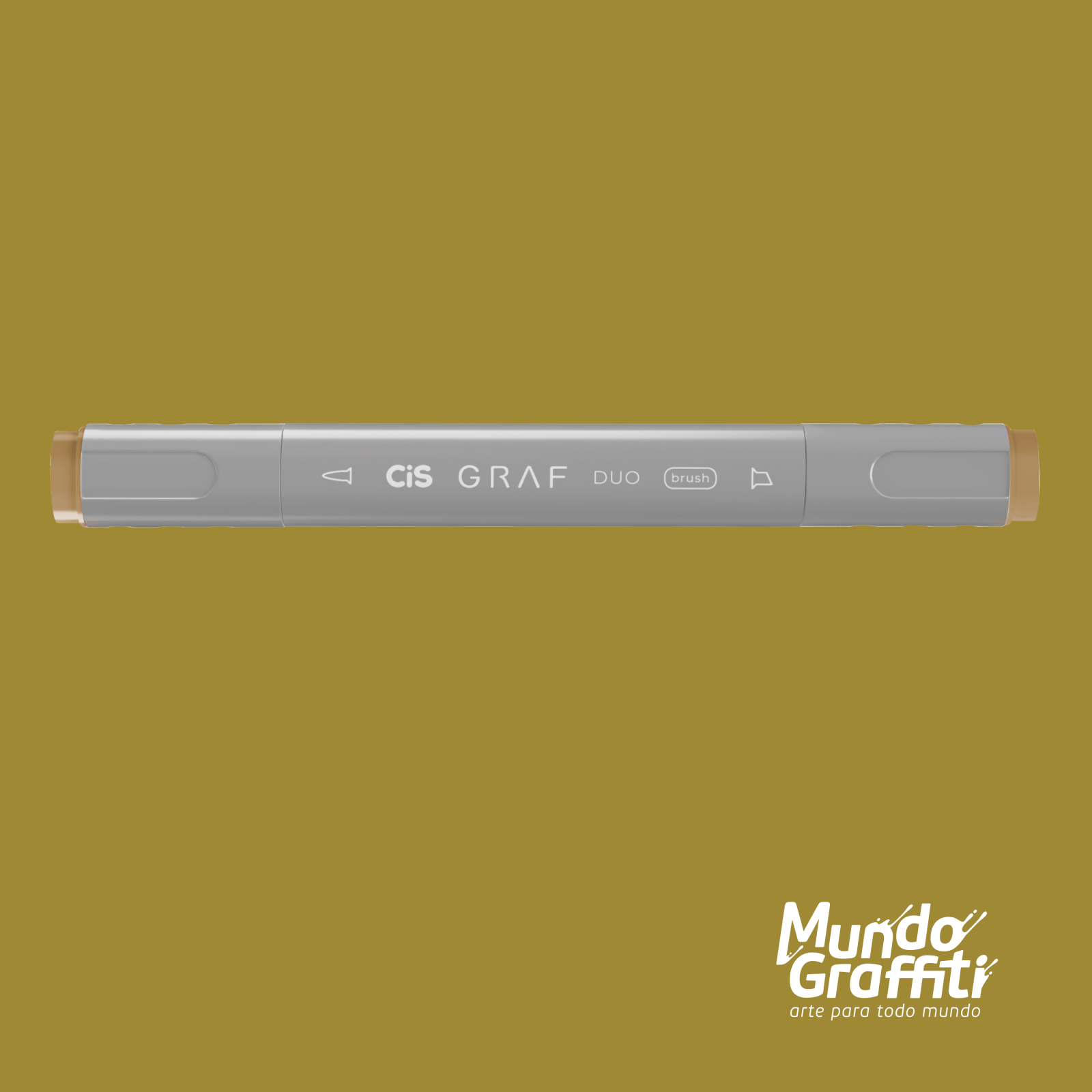 Marcador Cis Graf Duo Brush Olive Green 41 - Mundo Graffiti