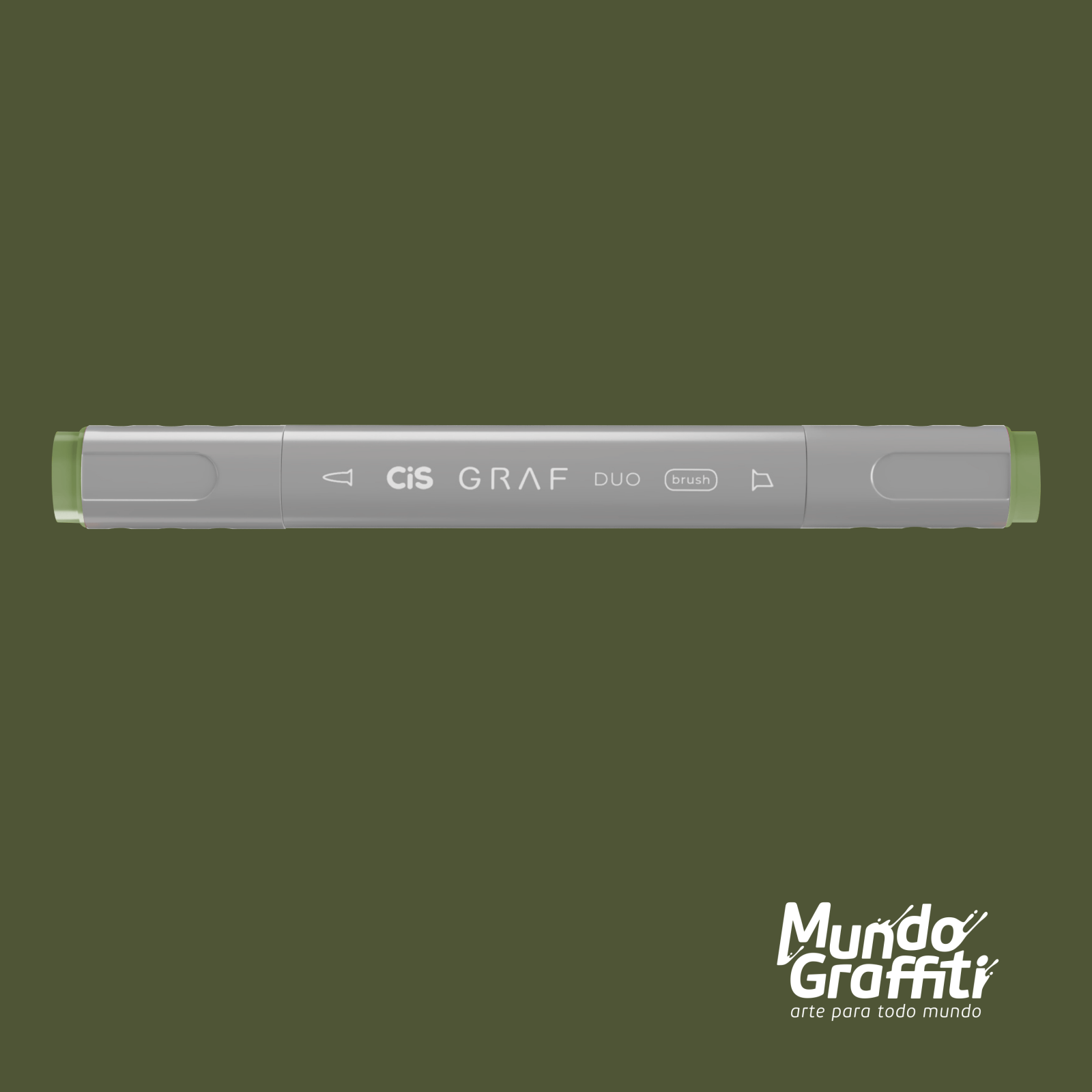 Marcador Cis Graf Duo Brush Deep Olive Green 43 - Mundo Graffiti