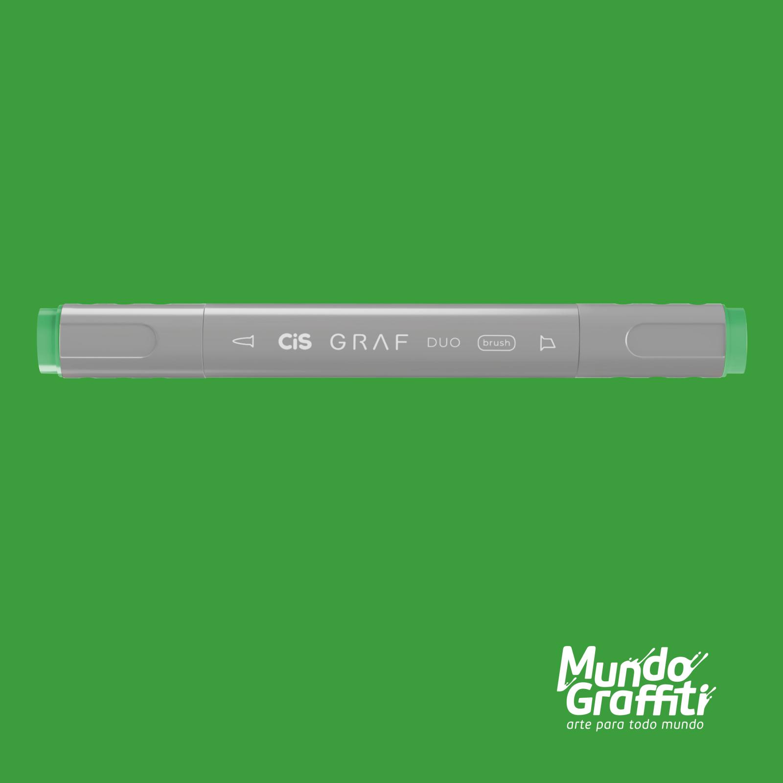 Marcador Cis Graf Duo Brush Vivid Green 46 - Mundo Graffiti