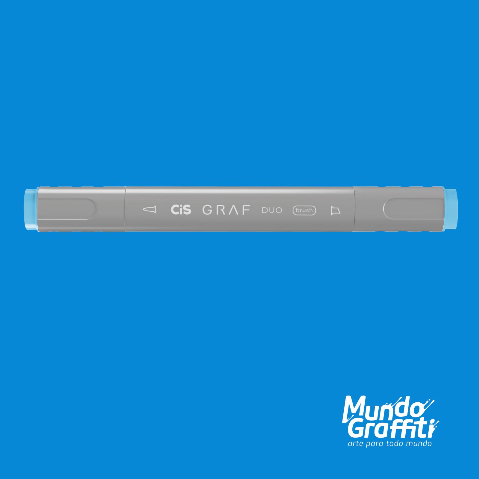 Marcador Cis Graf Duo Brush Sky Blue 76 - Mundo Graffiti