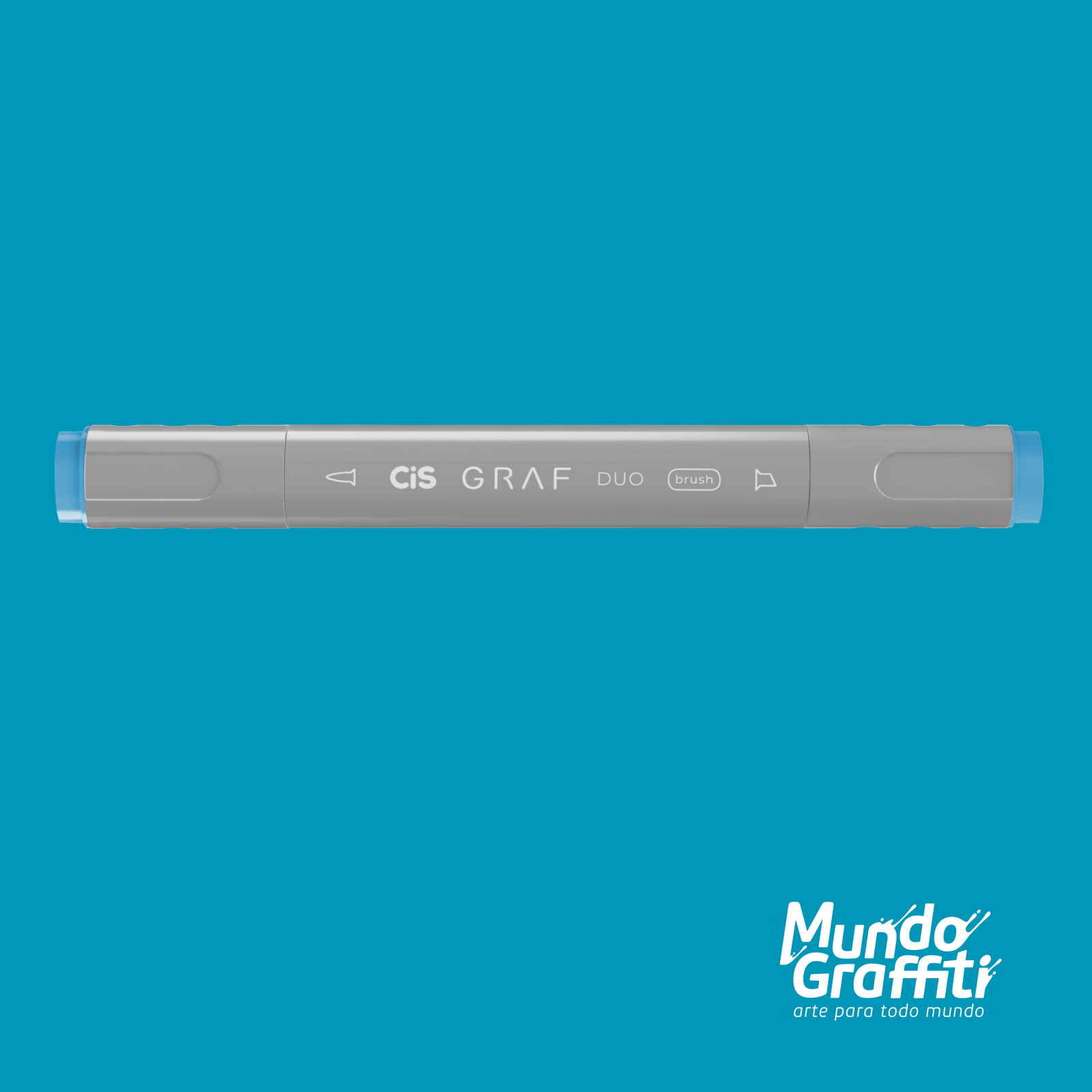 Marcador Cis Graf Duo Brush Indian Blue 64 - Mundo Graffiti