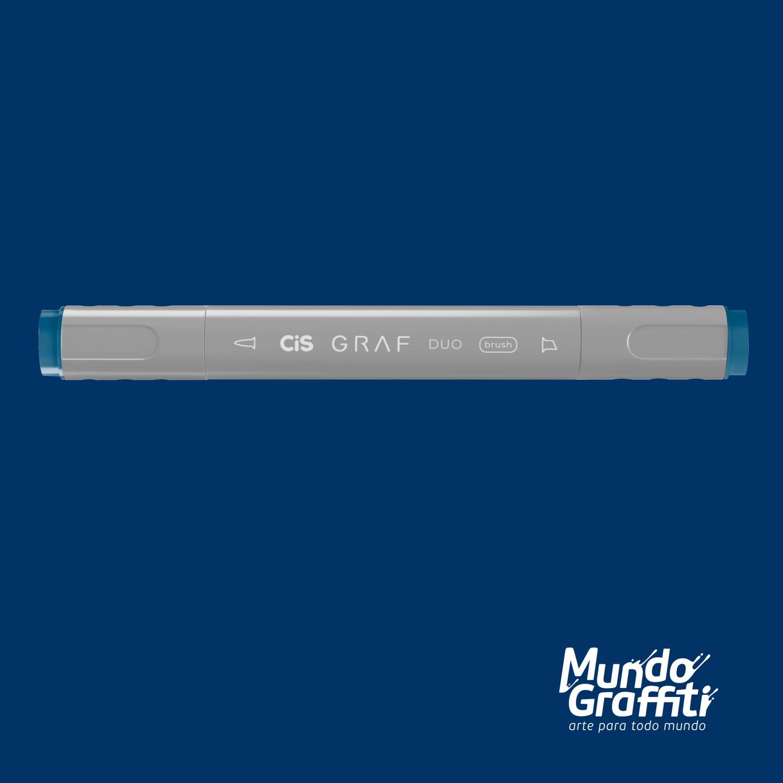 Marcador Cis Graf Duo Brush Prussian Blue 69 - Mundo Graffiti