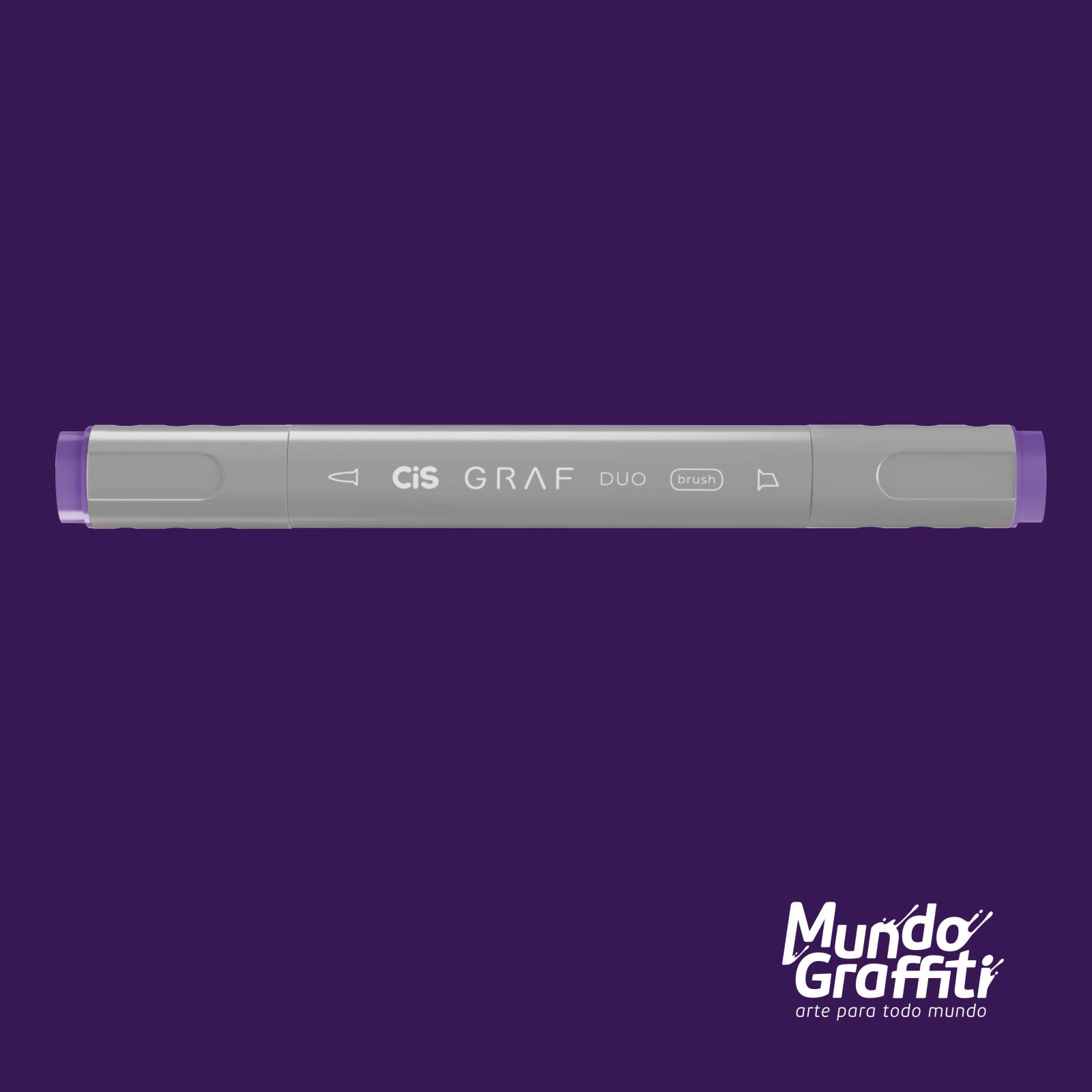 Marcador Cis Graf Duo Brush Deep Violet 81 - Mundo Graffiti