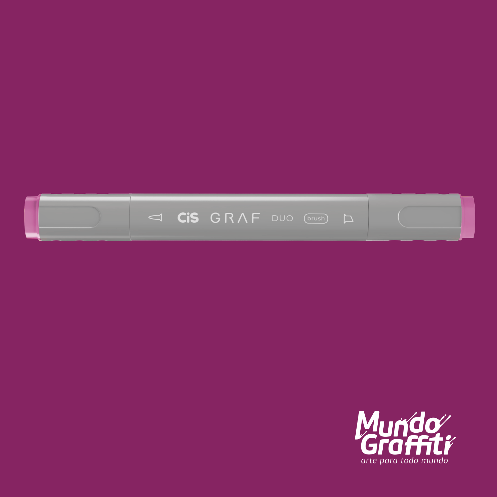 Marcador Cis Graf Duo Brush Vivid Purple 85 - Mundo Graffiti