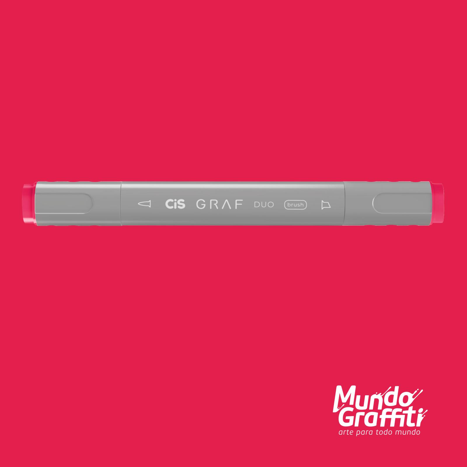 Marcador Cis Graf Duo Brush Carmine 11 - Mundo Graffiti