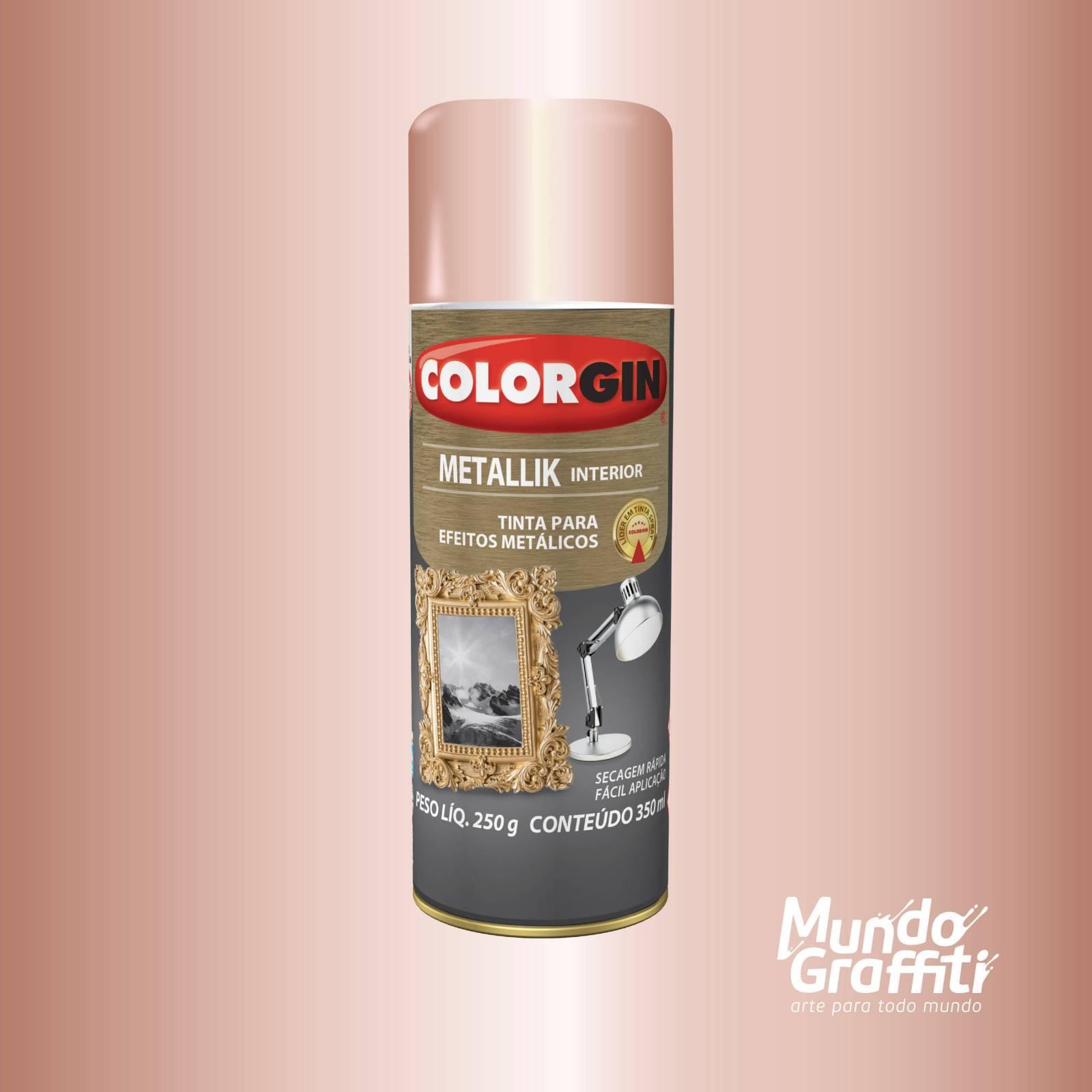 Tinta Spray Colorgin Metallik 056 Rose Gold 350ml - Mundo Graffiti