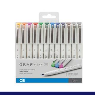 Kit Cis Graf Brush Fine c/ 12