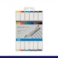 Kit Cis Graf Duo Cores Basicas C/ 6