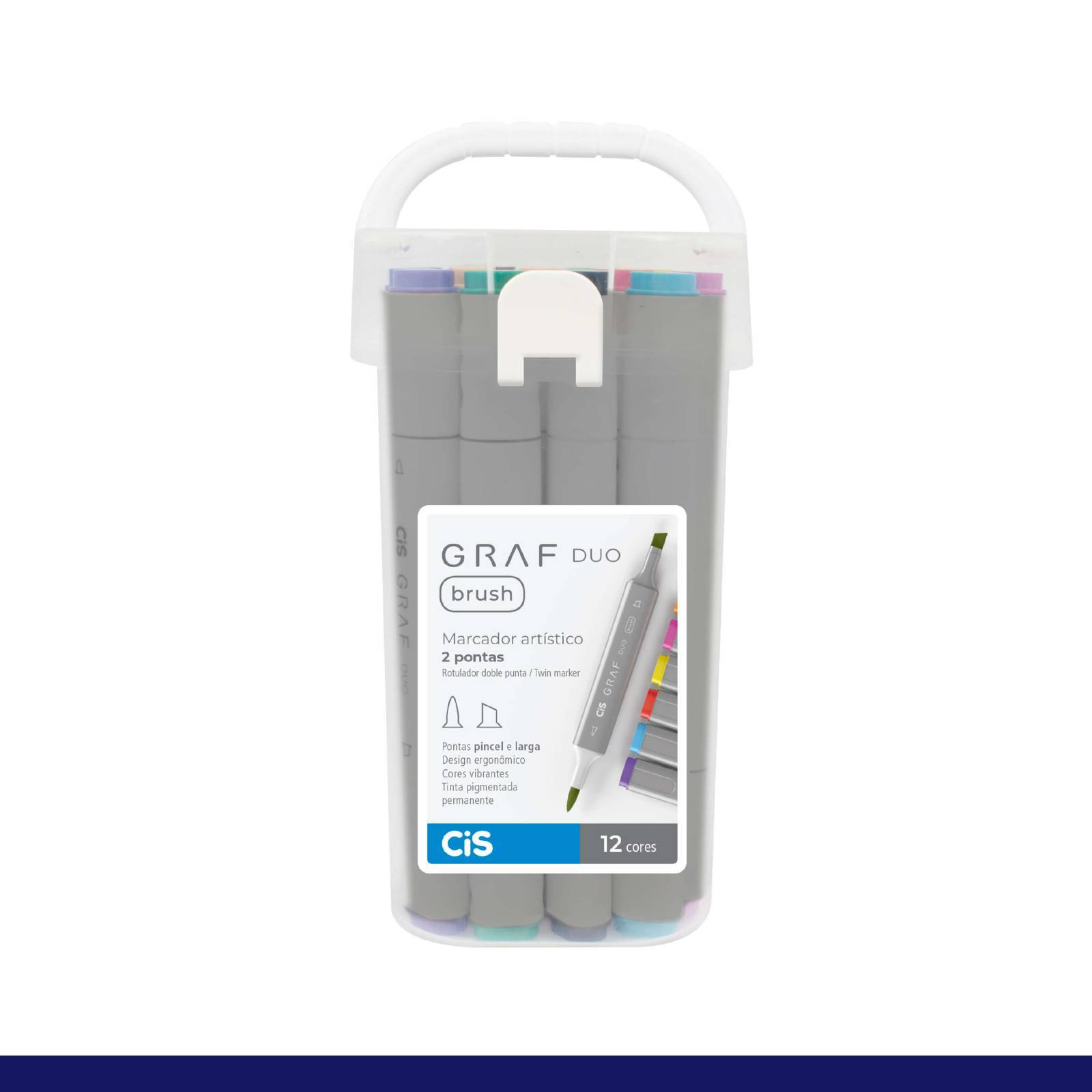 Estojo Cis Graf Duo Brush C/ 12 Cores - Mundo Graffiti