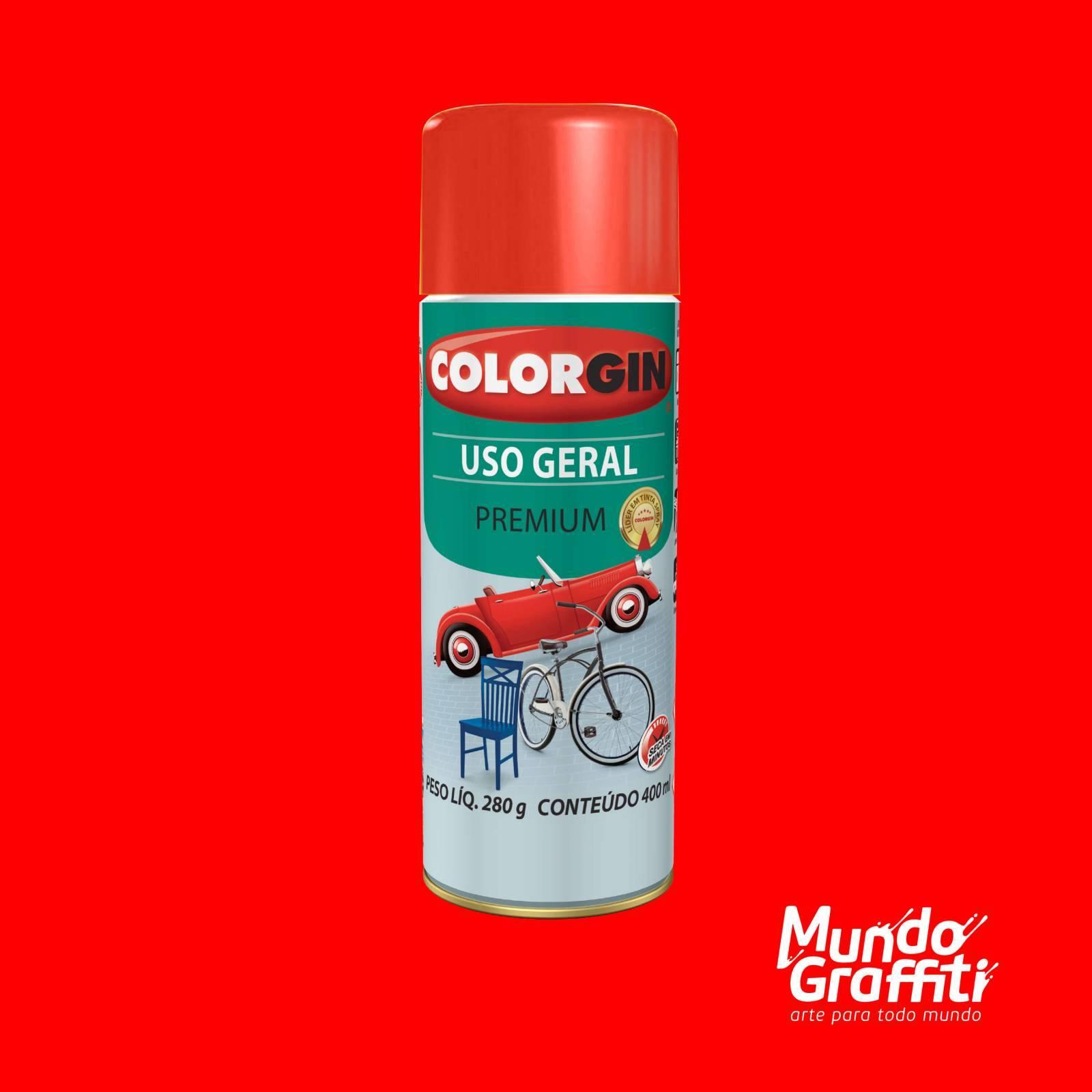 Tinta Spray Colorgin Uso Geral 55061 Vermelho 400ml - Mundo Graffiti