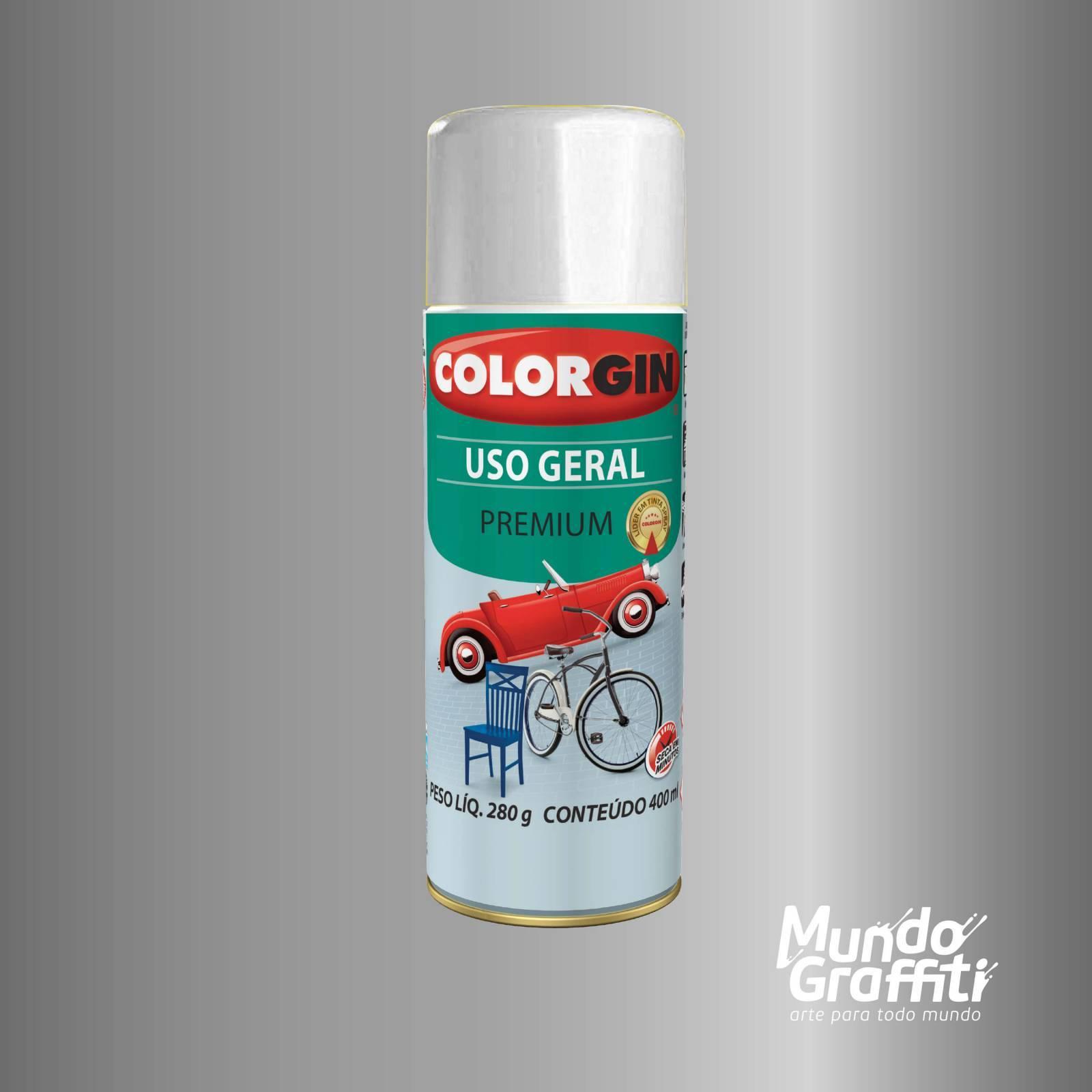 Tinta Spray Colorgin Uso Geral 55031 Grafite Médio p/ Rodas  - Mundo Graffiti