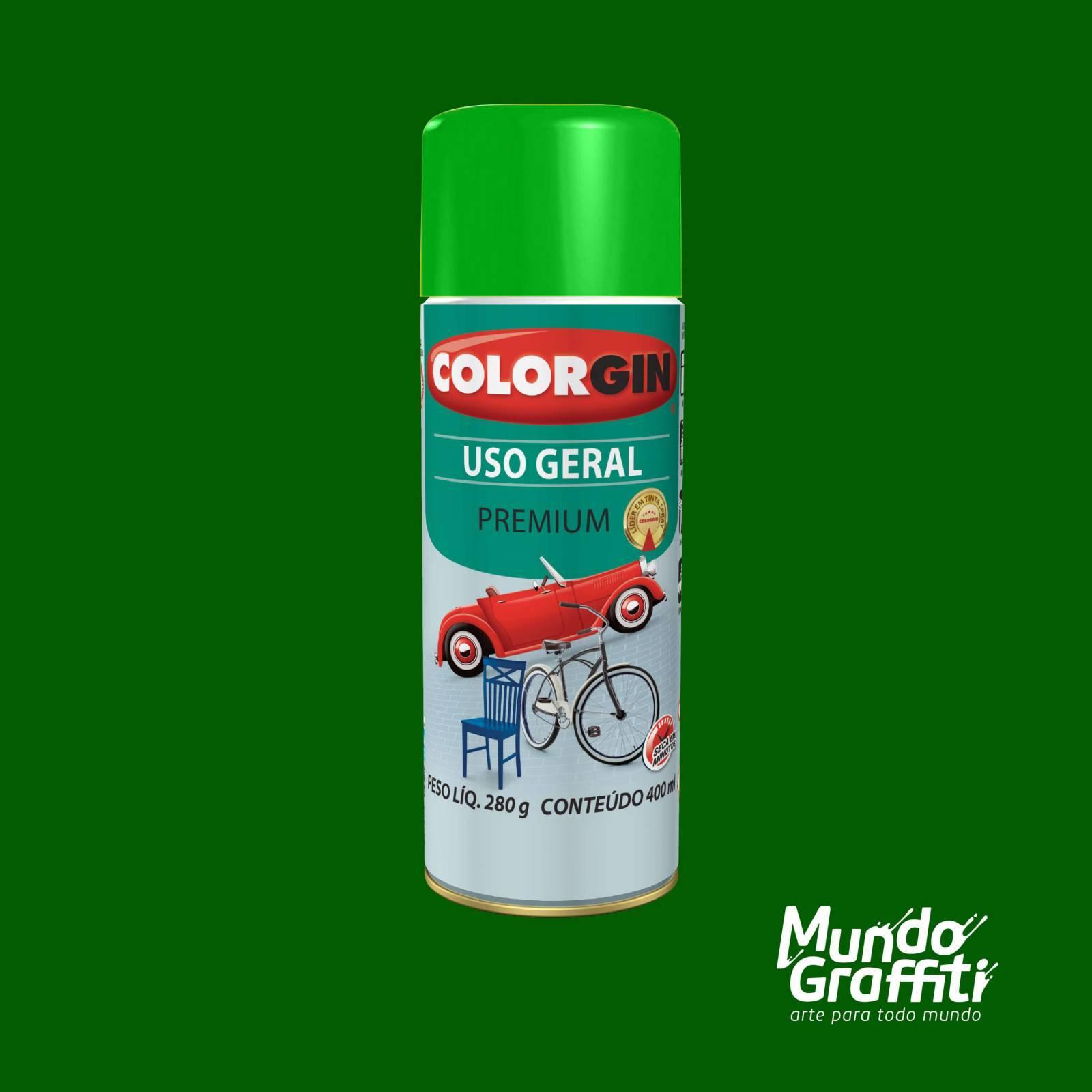 Tinta Spray Colorgin Uso Geral 55091 Verde 400ml - Mundo Graffiti