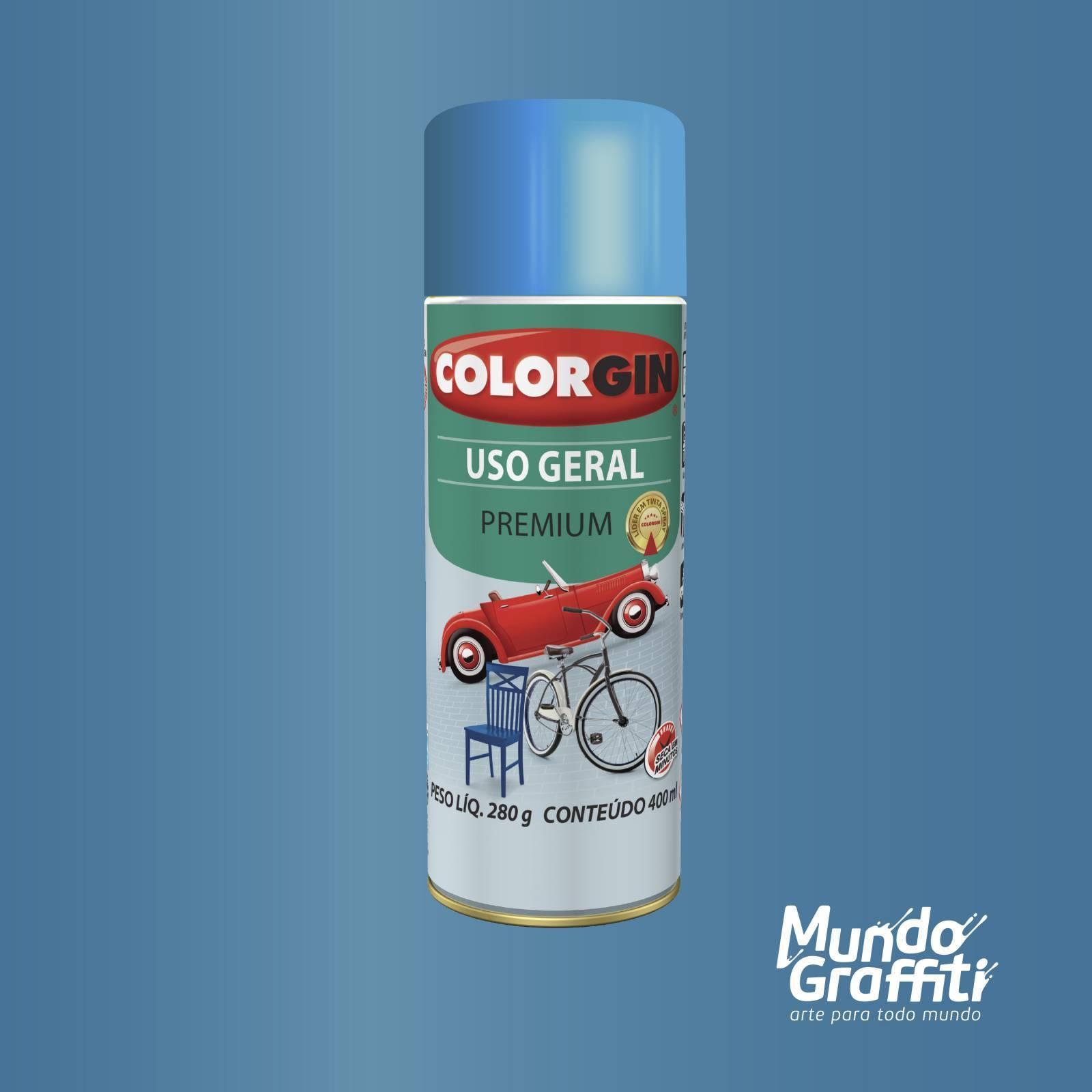 Tinta Spray Colorgin Uso Geral 57091 Azul Copacabana Metalic - Mundo Graffiti